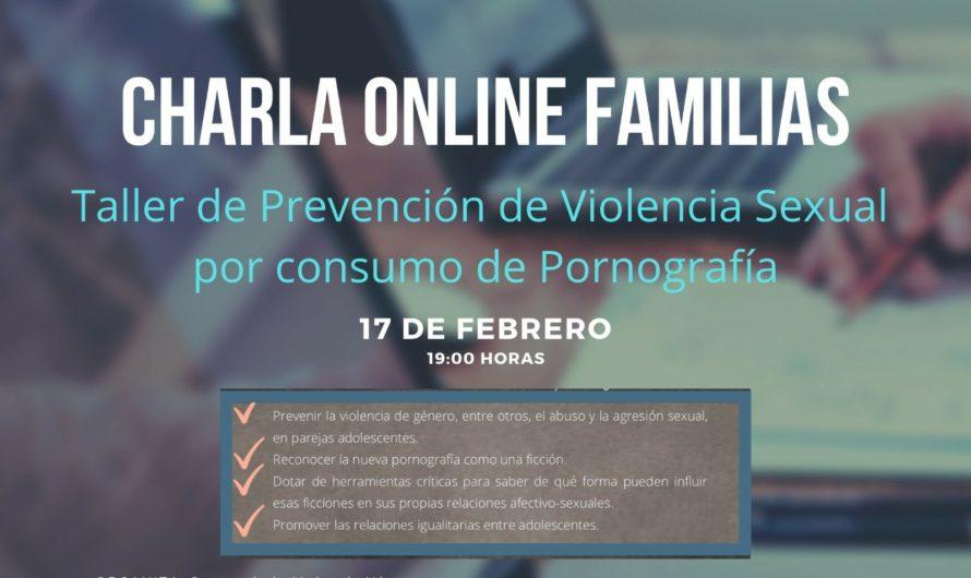 Charla online Familias